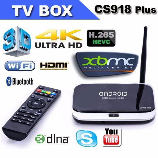 Android TV box CS918 - Công ty TNHH Thiết bị điện tử tự động AEE